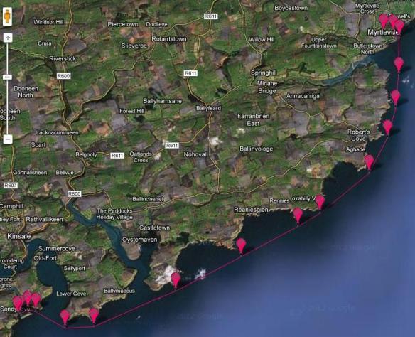 Myrtleville Challenge route: 24km
