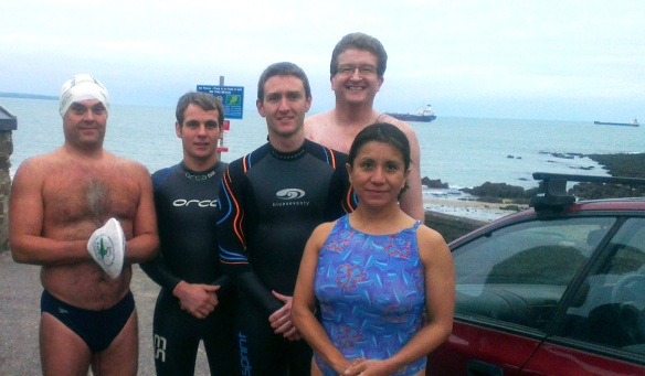 Last Monday night Myrtleville swims:  22 October, 2012