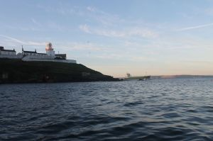 Waiting for the Tanker to pass at Roches Point.