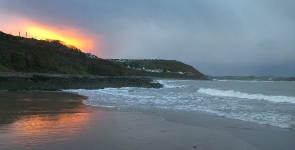 Myrtleville sunset - Winter swimming