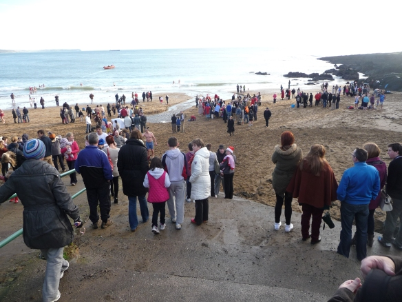 Myrtleville Christmas Swim 2012 - spot the Munster player.....