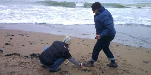 Riana & Susan creating art on Myrtleville Beach