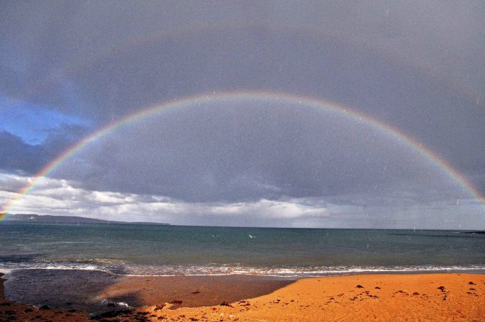Image result for pictures of rainbows over ireland