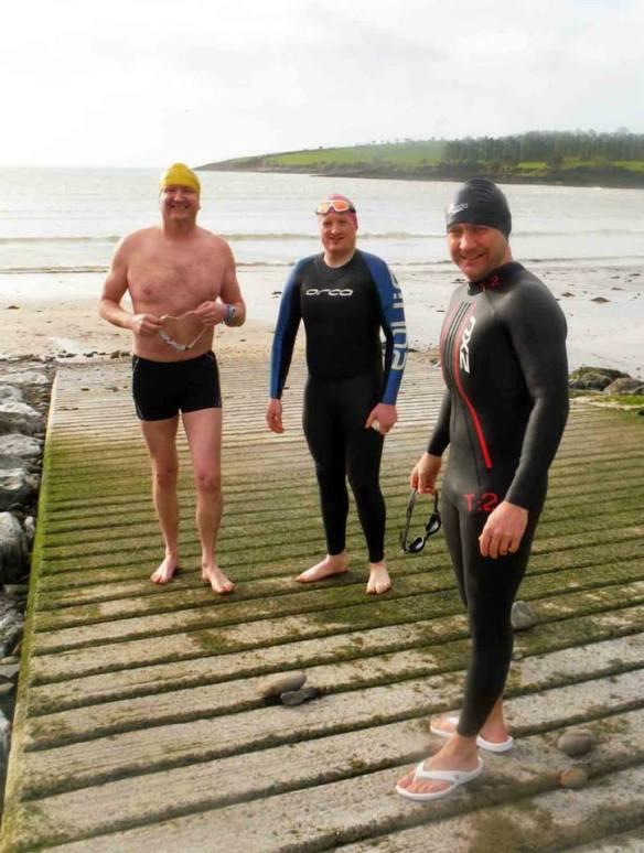 Open water, sea swimming in Cork, Ireland.