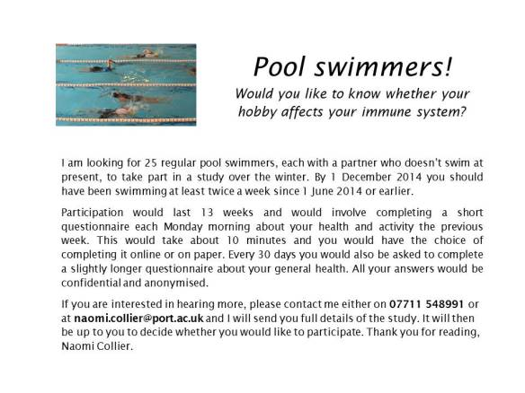 Pool swimmers advertisement