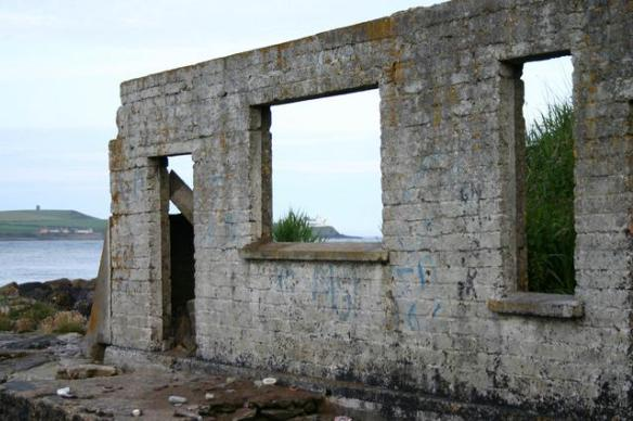 Image of decline. The remnants of the former Crosshaven Swimming Club. It went into disrepair following the closure of the Cork - Crosshaven railway line. Pic. F. Schoonbaert