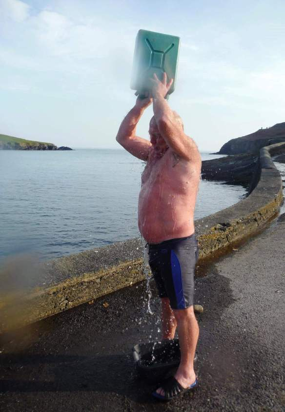 Open water, sea swimming in Cork, Ireland.