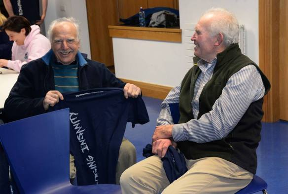 Pat Higgins and Tom Bermingham - sorted for the Summer with new T-Shirts.