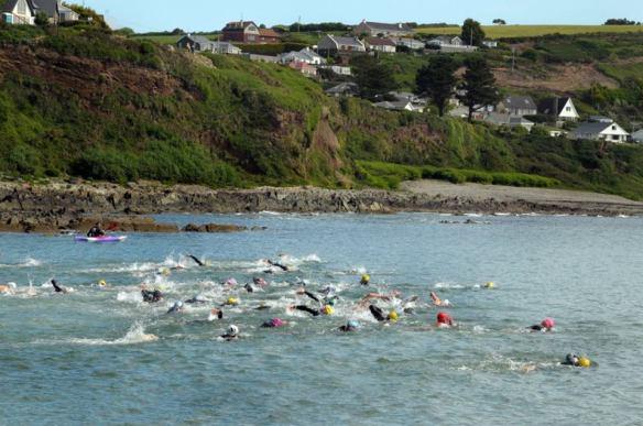 Open water swimming in Cork, Ireland.