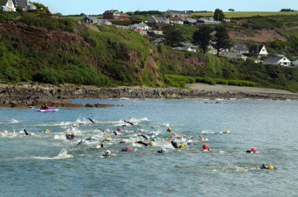 Open water swimming in Cork, Ireland.