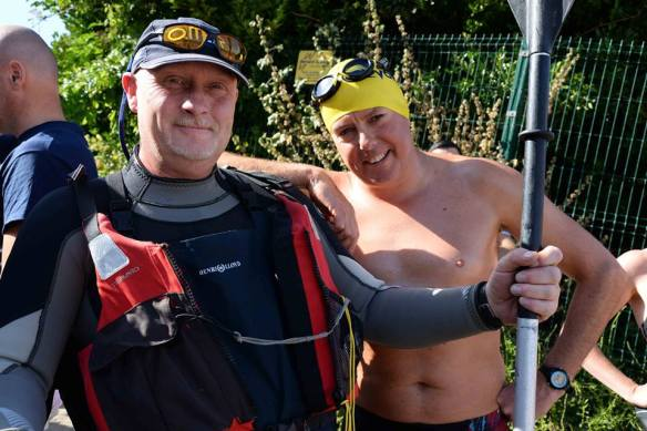 Mike - regular swim supporter through the year in Myrtleville. With some guy.