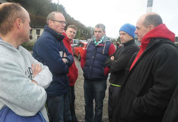 Simon Coveney in Myrtleville in January.