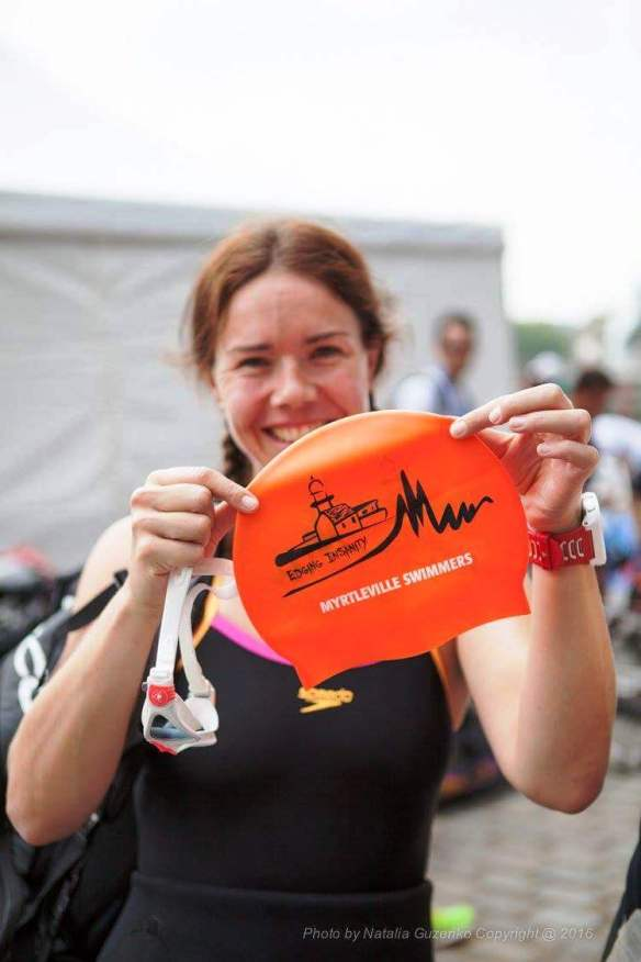 The Hat with Caroline O'Leary in Rotterdam - definitely not relaxing on holiday: - 4th in the world in Elite Class T3 Para Triathlon World Championships.