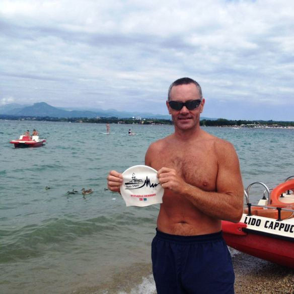 The Hat at Lake Garda in Italy - brought Alan Wilkie along this time.