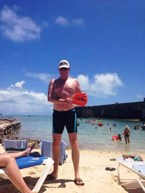 The Hat with Eamonn Hughes in the Caribbean for his 50th!