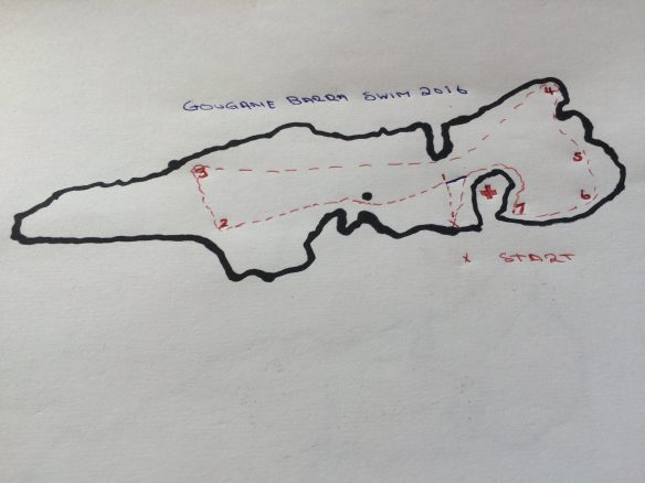 Gougane Barra Swim - Route map